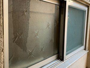 昔の型板ガラス
